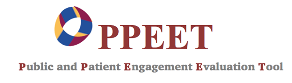 Logo of the Public and Patient Engagement Evaluation Tool (PPEET)